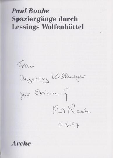 Raabe, Paul. Spaziergänge durch Lessings Wolfenbüttel.
