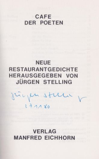 Stelling, Jürgen (Hrsg.). Cafe der Poeten.