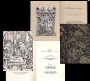 Schäfer, Otto (Hrsg.). Druckgraphik des fünfzehnten Jahrhunderts.