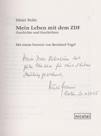 Stolte, Dieter. Mein Leben mit dem ZDF.