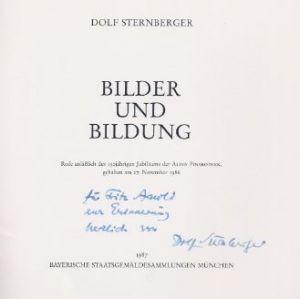 Sternberger, Dolf. Bilder und Bildung.