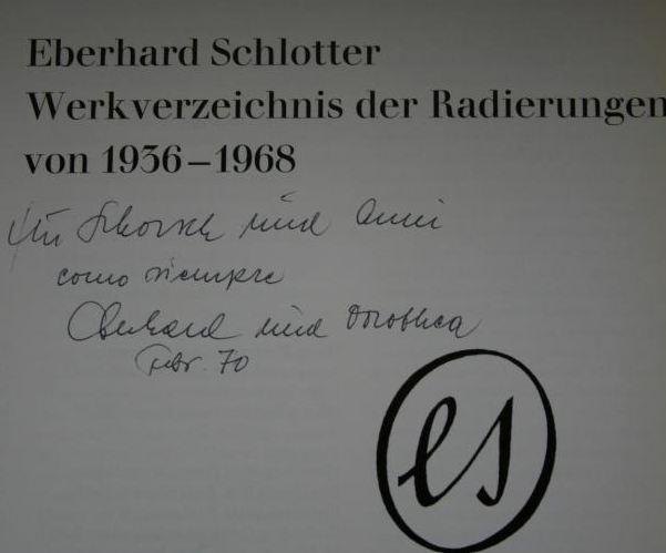 Schlotter, Eberhard. Werkverzeichnis der Radierungen von 1936-1968.