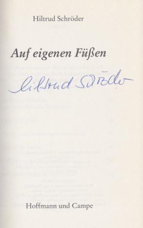 Schröder, Hiltrud. Auf eigenen Füßen.