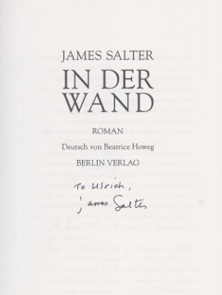 Salter, James. In der Wand.