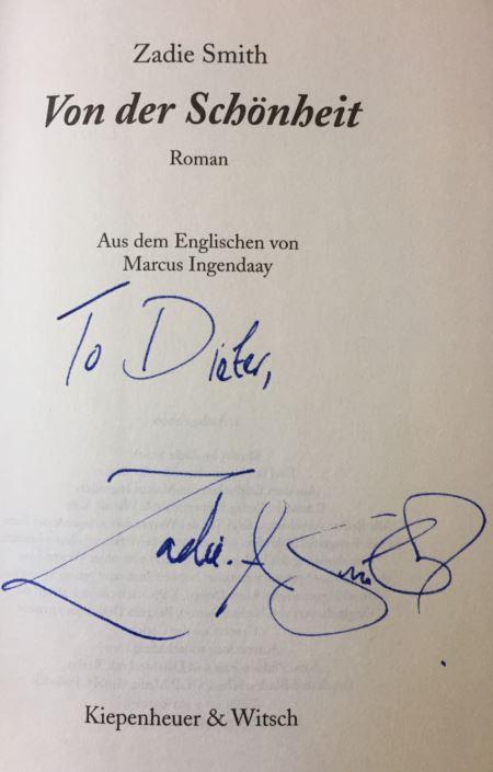 Smith, Zadie: Von der Schönheit.