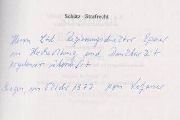 Schütz, Wolfgang. Strafrecht.