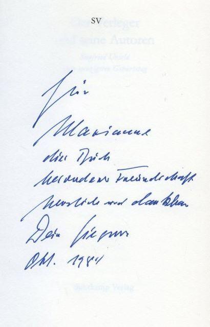 Der Verleger und seine Autoren.