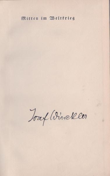 Winckler, Joesef. Mitten im Weltkrieg.