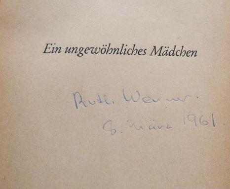 Werner, Ruth. Ein ungewöhnliches Mädchen.