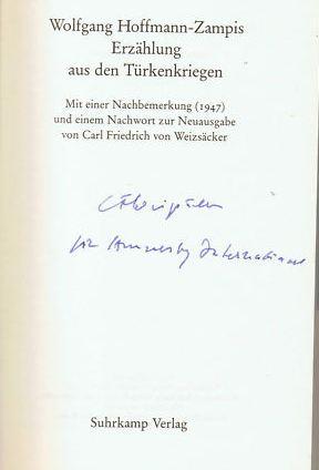 Hoffmann-Zampis, Wolfgang. Erzählungen aus den Türkenkriegen. 0