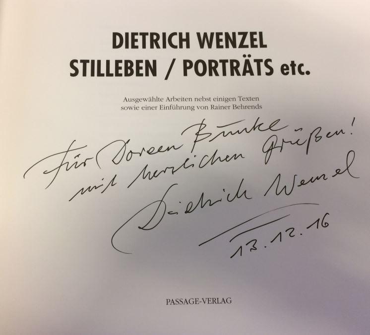 Behrends, Rainer. Dietrich Wenzel - Stilleben/ Porträts etc.