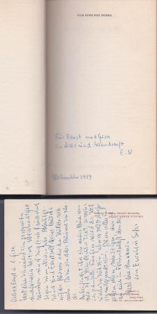 Wasmuth, Ewald. Vom Sinn des Todes.
