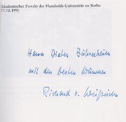 Anonym. Akademischer Festakt der Humboldt-Universität zu Berlin