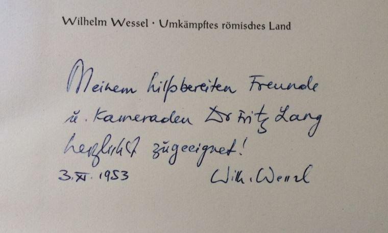 Wessel, Wilhelm. Umkämpftes Römisches Land.
