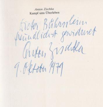 Zischka, Anton. Kampf ums Überleben.