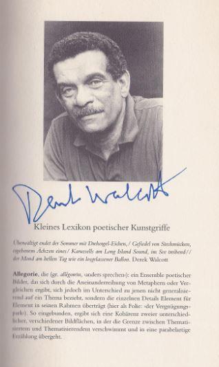 Walcott, Derek. Gedichte.