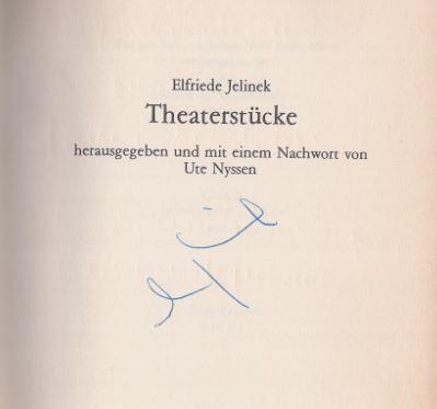 Jelinek, Elfriede. Theaterstücke.