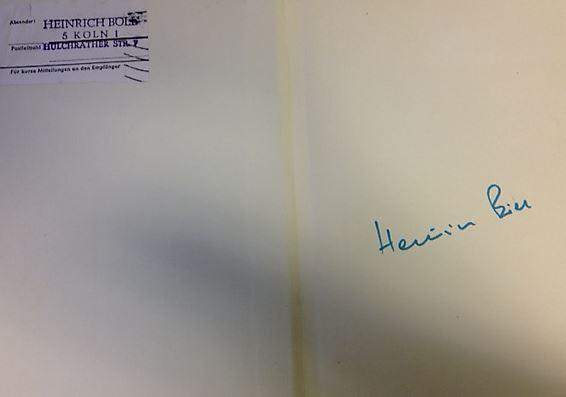 Böll, Heinrich. Erzählungen. Hörspiele. Aufsätze.