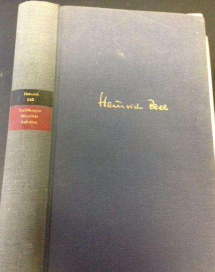 Böll, Heinrich. Erzählungen. Hörspiele. Aufsätze. 1