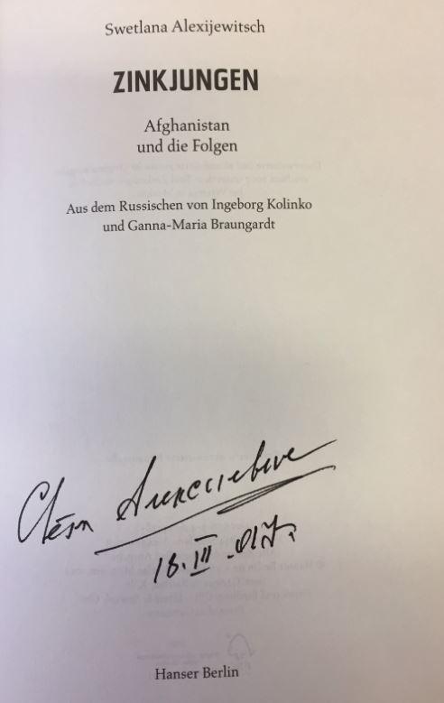 Alexijewitsch, Swetlana, Ingeborg (Übersetzerin) Kolinko und Ganna-Maria (Übersetzerin) Braungardt. Zinkjungen.