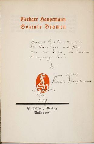 Hauptmann, Gerhart. Gesammelte Werke in sechs Bänden.