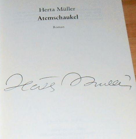 Müller, Herta. Atemschaukel.