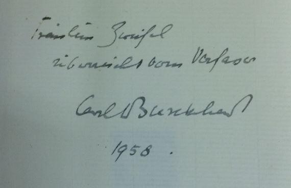 Burckhardt, Carl J. und Hugo von Hofmannsthal. Briefwechsel.