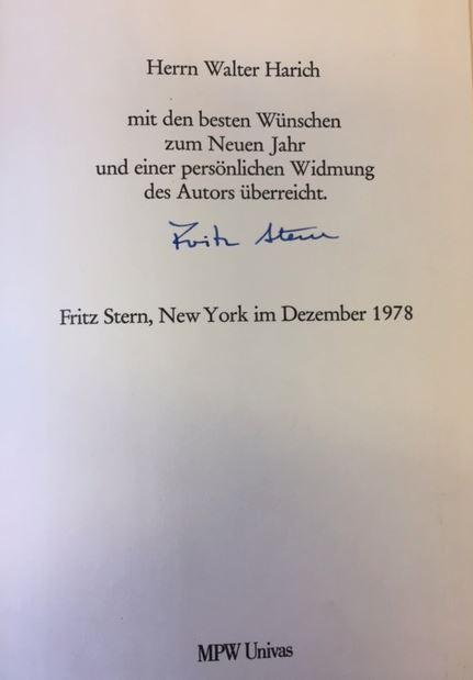 Stern, Fritz. Gold und Eisen.