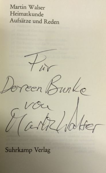 Walser, Martin. Heimatkunde.