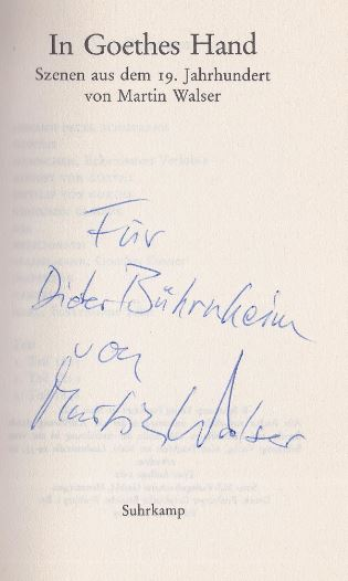 Walser, Martin. In Goethes Hand.