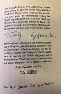 Tucholsky, Kurt. Rheinsberg.