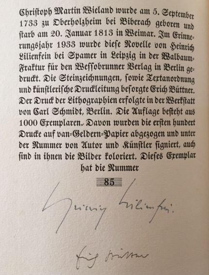 Lilienfein, Heinrich. Wieland.
