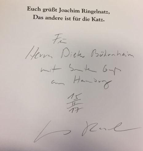 Bohne, Wilfried, Artur Dieckhoff und Anne von Karstedt. Ringelnatz für die Katz