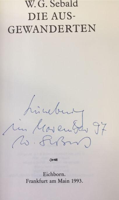 Sebald, Winfried G. Die Ausgewanderten.