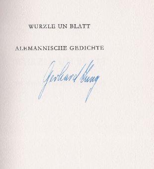 Jung, Gerhard. Wurzle un Blatt.