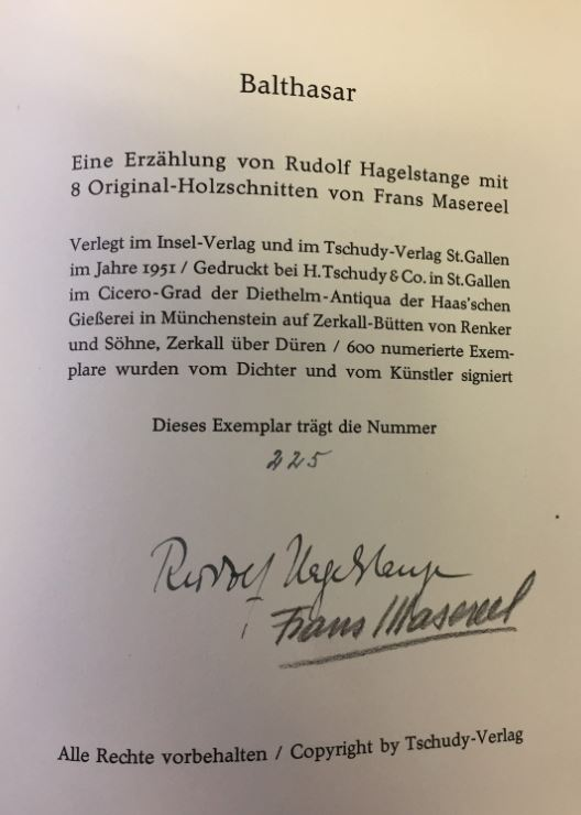 Hagelstange, Rudolf. Balthasar.