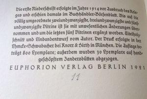 Ehmcke, Fritz Helmut. Drei Jahrzehnte Deutscher Buchkunst 1890-1920.
