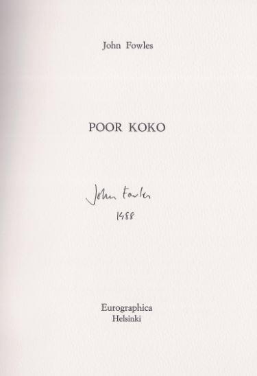 Fowles, John. Poor Koko.
