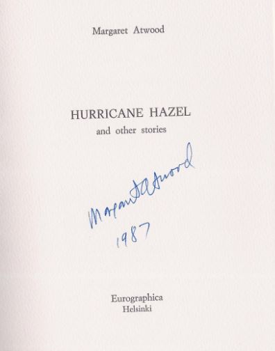 Atwood, Margaret. Hurricane Hazel and other stories.