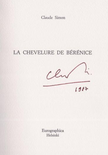 Simon, Claude. La chevelure de Bérénice.