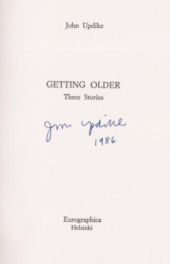 Updike, John. Getting Older.