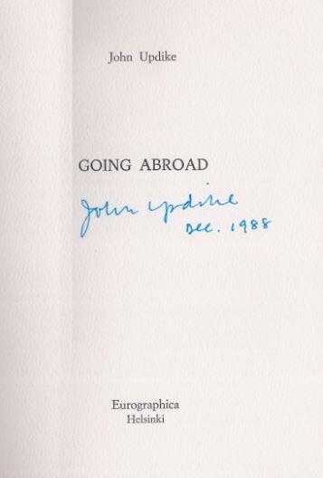 Updike, John. Going abroad.