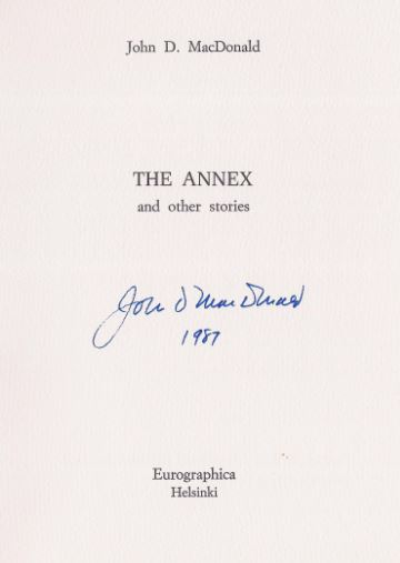 MacDonald, John D. The annex and other stories.