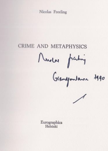 Freeling, Nicolas. Crime and Metaphysics.