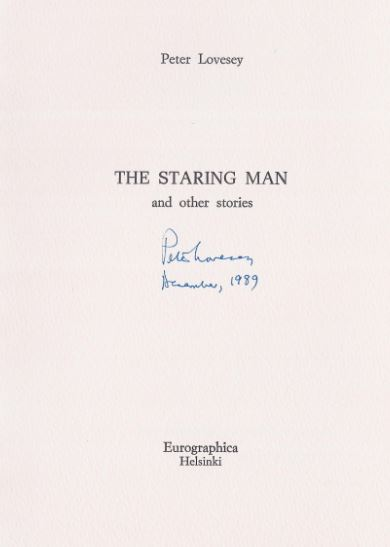 Lovesey, Peter. The staring man and other stories.