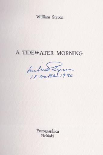 Styron, William. A Tidewater Morning.