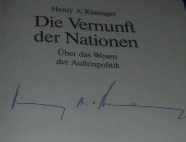 Kissinger, Henry A., Matthias (Übersetzer) Vogel und Ina (Übersetzerin) Bräuning. Die Vernunft der Nationen.