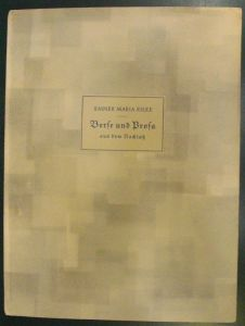 Rilke, Rainer Maria. Verse und Prosa