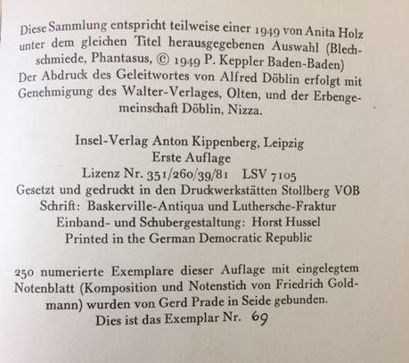 Holz, Arno. Phantasus.