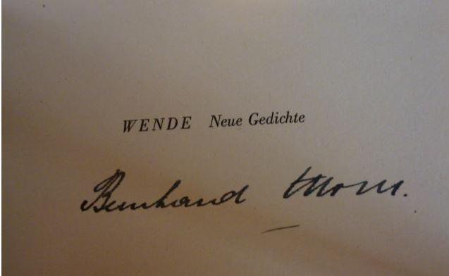 Moser, Bernhard. Wende.